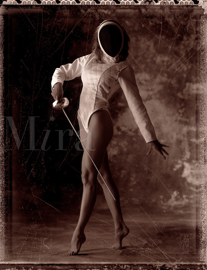 Female fencer.