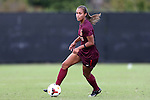 29 September 2013: Virginia Tech's Jazmine Reeves. The Duke University Blue Devils hosted the Virginia Tech University Hokies at Koskinen Stadium in Durham, NC in a 2013 NCAA Division I Women's Soccer match. The game ended in a 1-1 tie after two overtimes.