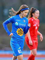 20191221 - WOLUWE: Gent's Debbie Coenraets is in action during the Belgian Women's National Division 1 match between FC Femina WS Woluwe A and KAA Gent B on 21st December 2019 at State Fallon, Woluwe, Belgium. PHOTO: SPORTPIX.BE | SEVIL OKTEM