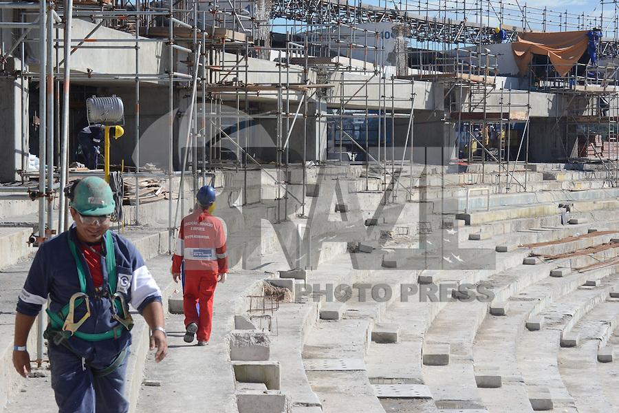 RIO DE JANEIRO-11/06/2012-Obras do estadio do Maracana, na zona norte do Rio.Foto:Marcelo Fonseca-Brazil Photo Press