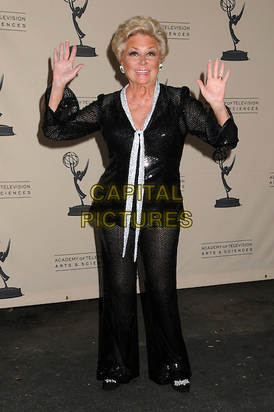 MITZI GAYNOR .TV Moves: Magic Moments of Dance and Choreography In Television at the John Anson Ford Theatre, Los Angeles, California, USA..July 30th, 2008.full length black white top trousers hands palms waving .CAP/ADM/BP.©Byron Purvis/AdMedia/Capital Pictures.