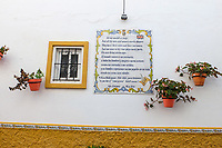 Spanish tribute to Shakespeare, wall, hacienda, Estepona, Malaga Province, Spain, October, 2018, 201810085182<br />