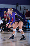 Abby Broadstreet (3) of the High Point Panthers warms-up prior to the match against the Liberty Flames at the Millis Athletic Center on September 23, 2016 in High Point, North Carolina.  The Panthers defeated the Flames 3-1.   (Brian Westerholt/Sports On Film)