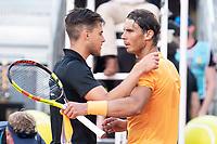 Austrian Dominic Thiem and Spanish Rafa Nadal during Mutua Madrid Open 2018 at Caja Magica in Madrid, Spain. May 11, 2018. (ALTERPHOTOS/Borja B.Hojas) /NORTEPHOTOMEXICO