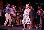 Will Chase, Laura Osnes & Company.during the New York City Center Encores! 'Pipe Dream' Opening Night Curtain Call in New York City on 3/28/2012.