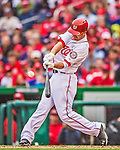1 April 2013: Washington Nationals first baseman Adam LaRoche in action during the Nationals' Opening Day Game against the Miami Marlins at Nationals Park in Washington, DC. The Nationals shut out the Marlins 2-0 to launch the 2013 season. Mandatory Credit: Ed Wolfstein Photo *** RAW (NEF) Image File Available ***