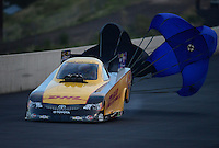 Jul, 20, 2012; Morrison, CO, USA: NHRA funny car driver Jeff Arend during qualifying for the Mile High Nationals at Bandimere Speedway. Mandatory Credit: Mark J. Rebilas-