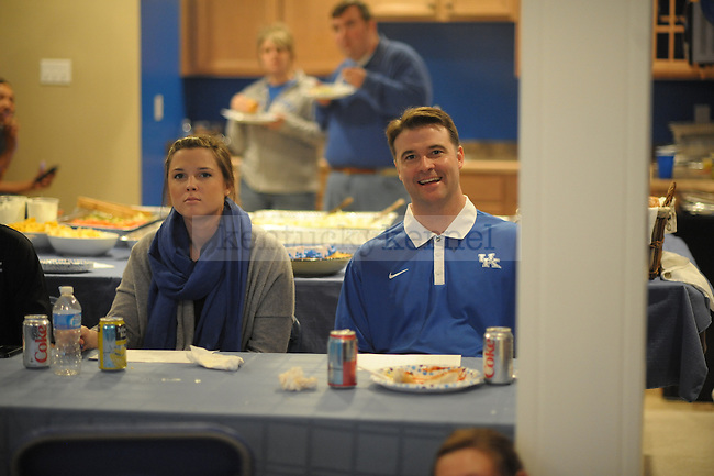 UK head coach Matthew Mitchell smiles after the Women's Basketball Selection Show at his house in Lexington, Ky., on 3/12/12. Photo by Mike Weaver | Staff