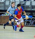 Almere - Zaalhockey  Laren-SCHC (heren)   .  Roderick Tam (SCHC)  TopsportCentrum Almere.    COPYRIGHT KOEN SUYK