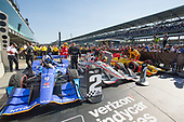 Verizon IndyCar Series<br /> IndyCar Grand Prix<br /> Indianapolis Motor Speedway, Indianapolis, IN USA<br /> Saturday 13 May 2017<br /> First Place Will Power, Team Penske Chevrolet, Second Place Scott Dixon, Chip Ganassi Racing Teams Honda, Third Place Ryan Hunter-Reay, Andretti Autosport Honda in Parc Ferme<br /> World Copyright: Geoffrey M. Miller LAT Images