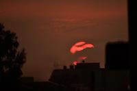 BOGOTA - COLOMBIA - 23 -  12 - 2016: Sunset in Bogota. Photo: VizzorImage / Luis Ramirez / Staff.
