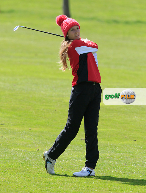 Hannah Karg (GER) on the 18th fairway during Round 3 of The Irish Girls Open Strokeplay Championship in Roganstown Golf Club on Sunday 19th April 2015.<br /> Picture:  Thos Caffrey / www.golffile.ie