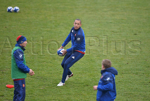 23.02.2016. CNR Marcoussis, Paris, France. The French nationaol rugby team at practise before their 6 Nations game against Wales on 25th February 2016.  Gael Fickou (fra)