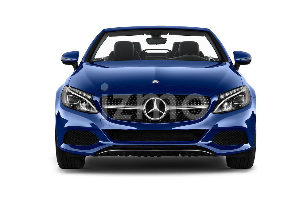 Car photography straight front view of a 2017 Mercedes Benz C-Class C-300 2 Door Convertible Front View