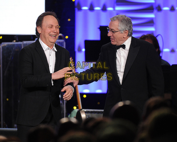 PHOENIX, AZ- APRIL 12: Billy Crystal and Robert De Niro appear on Muhammad Ali's Celebrity Fight Night XX at the JW Marriott Desert Ridge Resort &amp; Spa on April 12, 2014 in Phoenix, Arizona .<br /> CAP/MPI/RTNMIC<br /> &copy;RTNMIC/MPI/Capital Pictures