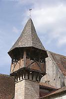 Europe/France/Midi-Pyrénées/46/Lot/Espagnac-Sainte-Eulalie: Clocher de l'église Notre-Dame de Val Paradis