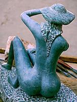Escultura em pedra sabao  Foto de Manuel Lourenço.