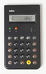 ET55 Calculator; 1980; Designed by Dieter Rams (German, b. 1932) and Dietrich Lubs (German, b. 1938); Manufactured by Braun AG (Frankfurt, Germany); Molded ABS plastic, electronic components; 13.6 × 7.6 × 1 cm (5 3/8  × 3  × 3/8 in.); Gift of George R. Kravis II, 2015-5-4