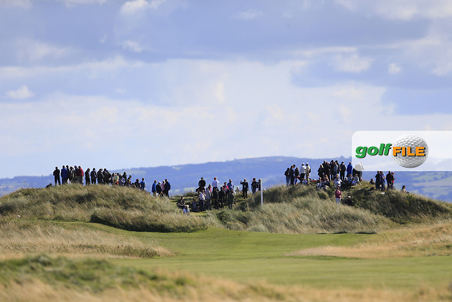 Crowds watch the action during the singles matches at the Walker Cup, Royal Liverpool Golf Club, Hoylake, Cheshire, England. 07/09/2019.<br /> Picture Fran Caffrey / Golffile.ie<br /> <br /> All photo usage must carry mandatory copyright credit (© Golffile | Fran Caffrey)