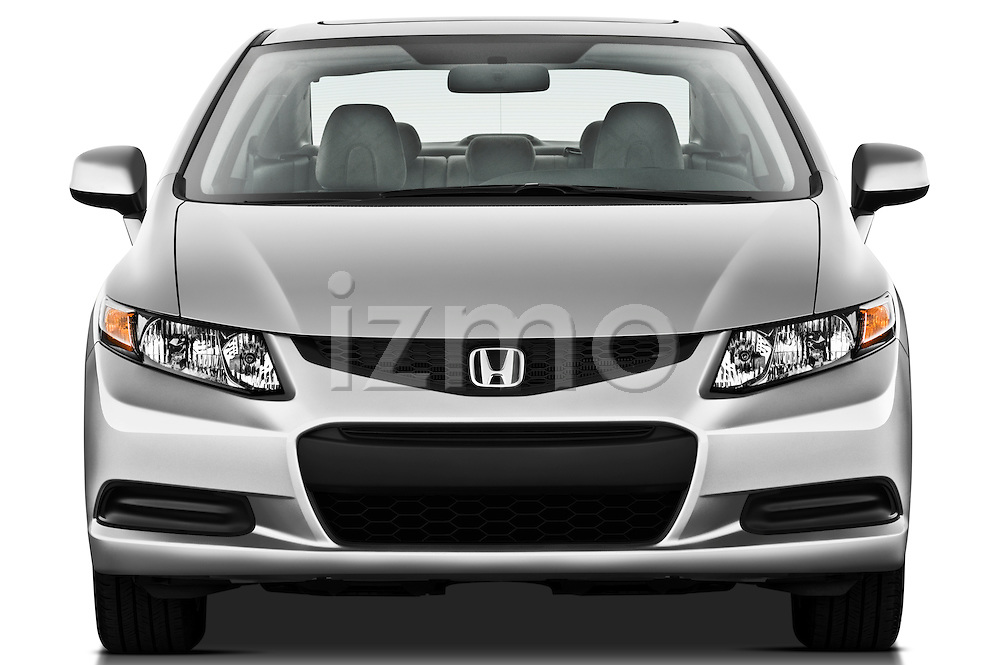 Straight front view of a  2012 Honda Civic Coupe EX