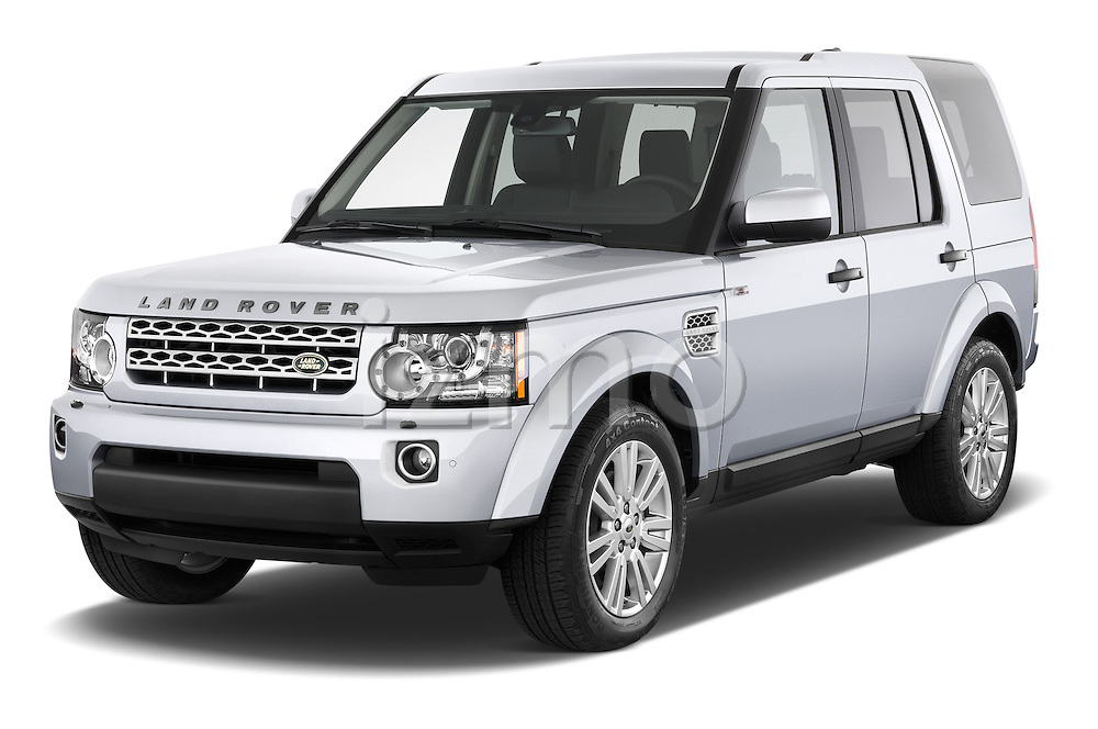 2014 Land Rover LR4 Base 5 Door SUV Angular Front stock photos of front three quarter view