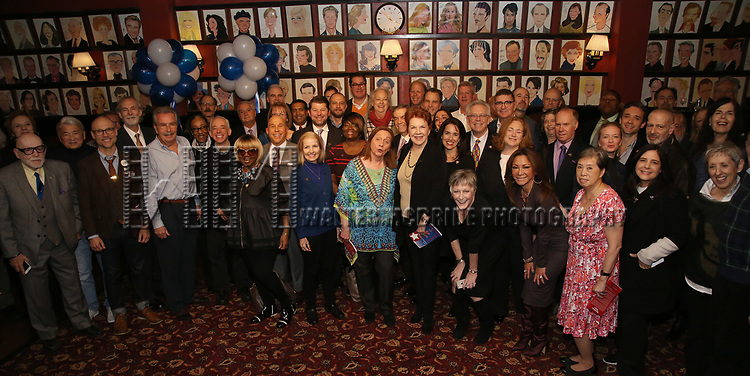 Honorees attend The Broadway League and the Coalition of Broadway Unions and Guilds (COBUG) presents the 9th Annual Broadway Salutes at Sardi's on November , 2017 in New York City.