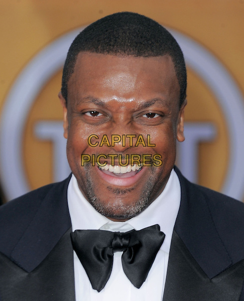 Chris Tucker.Arrivals at the 19th Annual Screen Actors Guild Awards at the Shrine Auditorium in Los Angeles, California, USA..27th January 2013.SAG SAGs headshot portrait black white bow tie tuxedo goatee facial hair .CAP/DVS.©DVS/Capital Pictures.