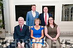 North Kerry Harriers Ball: attending the North Kerry Harriers Hunt Ball at the Listowel Arms Hotel on Saturday night last were Mattie & Marie Carmody & Lisa Brennan. Backm: Jason Carmody & John Hobbins.