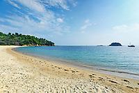 The beach Troulos of Skiathos island, Greece