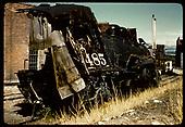 D&amp;RGW #485 wrecked - Salida<br /> D&amp;RGW  Salida, CO