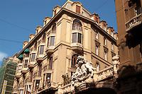- Genoa, palaces of the beginning of century 900 in XX september street....- Genova, palazzi dell'inizio del secolo 900 in via XX settembre