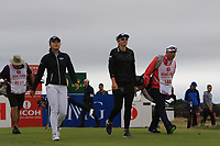 Jin Young Ko (KOR) and Brittany Lang (USA) on the 5th tee during Round 2 of the Ricoh Women's British Open at Royal Lytham &amp; St. Annes on Friday 3rd August 2018.<br /> Picture:  Thos Caffrey / Golffile<br /> <br /> All photo usage must carry mandatory copyright credit (&copy; Golffile | Thos Caffrey)