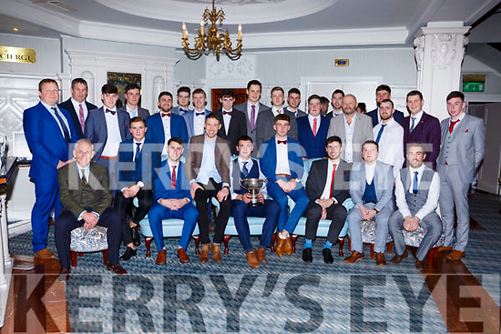The Mid Kerry Senior Champions who were honoured at the Beaufort GAA social in the Killarney Avenue on Saturday night