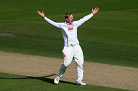 Simon Harmer of Essex claims the wicket of Luke Fletcher during Nottinghamshire CCC vs Essex CCC, Specsavers County Championship Division 1 Cricket at Trent Bridge on 12th September 2018