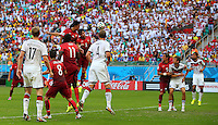 Mats Hummels of Germany (hidden) scores a goal to make the score 2-0
