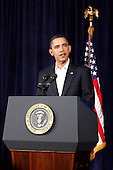 Honolulu, HI - December 28, 2009 -- United States President Barack Obama makes a statement on increased security for air travel at Marine Corps Base Hawaii on Monday, December 28, 2009 in Kaneohe Bay, Hawaii. Security measures have been heightened at airports after a Nigerian man, Umar Farouk Abdulmutallab, 23, attempted to blow up Northwest 253 flight as it was landing in Detroit on Christmas day..Credit: Kent Nishimura / Pool via CNP