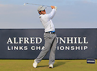 Bradley Neil (ENG) on the 8th tee during Round 3 of the 2015 Alfred Dunhill Links Championship at Kingsbarns in Scotland on 3/10/15.<br /> Picture: Thos Caffrey | Golffile