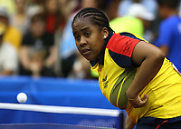 BARRANQUILLA - COLOMBIA, 23-07-2018:Final tenis de mesa dobles femenino ,ganaron las puerto riqueñas a Colombia.Juegos Centroamericanos y del Caribe Barranquilla 2018. /Women's double table tennis final,  Puerto Rico won  to Colombia of the Central American and Caribbean Sports Games Barranquilla 2018. Photo: VizzorImage /  Contribuidor