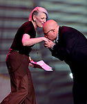 HOLLYWOOD, FL - FEBRUARY 04: Comedian Lisa Lampanelli and Frank DeCaro perform at Hard Rock Live at Seminole Hard Rock Hotel & Casino – Hollywood on February 4, 2017 in Hollywood, Florida.  ( Photo by Johnny Louis / jlnphotography.com )
