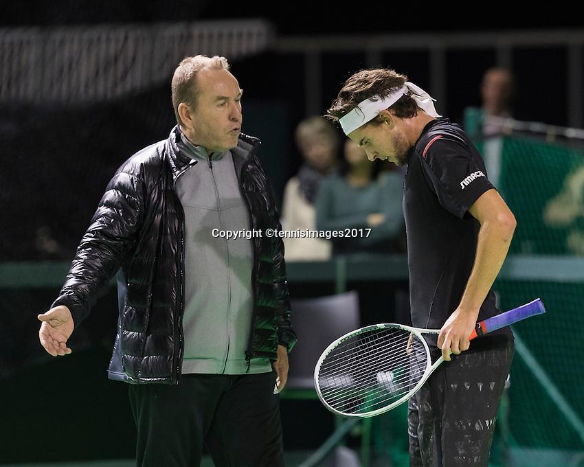 ABN AMRO World Tennis Tournament, Rotterdam, The Netherlands, 14 februari, 2017, Dominic Thiem (AUT)<br /> Photo: Henk Koster