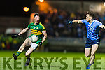 Jonathan Lyne Kerry in action against Paul Flynn Dublin in the National League in Austin Stack park on Saturday night.