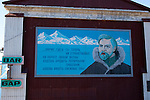 Russian mural in Barentsburg, a Russian coal mining town in the Norwegian Archipelego of Svalbard. Once home to about 2000 miners and their families, less than 500 people now live here.