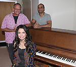 Arielle Jacobs with Jim Bauer and Saheem Ali  rehearsing for  'Farhad or the Secret of Being' part of  'Inner Voices' A Trilogy about Intimate Explorations of Courage, Loss and Acceptance at the MTC Studios on 10/23/2012 in New York City.