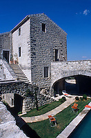 The main chateau was built in the 12th century but has been modified several times over the centuries
