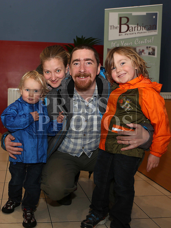 Darragh, Ethan, Jacob and Emma McAvinue at Bake and Play in the Barbican.<br /> <br /> Photo: Jenny Matthews