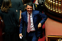 Former secretary of Democratic Party Matteo Renzi<br /> Rome August 13th 2019. Senate. Vote to allow  ore deny the Motion of no confidence to the Italian Government proposed by the Lega Nord party. <br /> Foto Samantha Zucchi Insidefoto