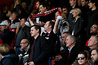Leyton Orient FC fans cheer on their team during the Sky Bet League 2 match between Leyton Orient and Grimsby Town at the Matchroom Stadium, London, England on 11 March 2017. Photo by Carlton Myrie / PRiME Media Images.