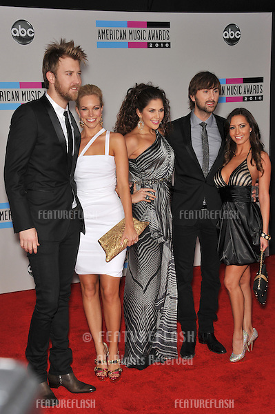 Lady Antebellum - Charles Kelley, Hillary Scott & Dave Haywood - at the 2010 American Music Awards at the Nokia Theatre L.A. Live in downtown Los Angeles..November 21, 2010  Los Angeles, CA.Picture: Paul Smith / Featureflash