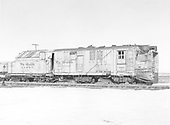 Side view of Rotary OY at Antonito.<br /> D&amp;RGW  Antonito, CO  Taken by Payne, Andy M. - 3/1/1975