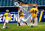 May 26, 2019: The Merrimack Warriors [yellow] defended their NCAA D2 lacrosse national title against the Saints of Limestone 16-8.  The lopsided match took place at Lincoln Financial Field in Philadelphia, Pennsylvania on May 26th, 2019.  Dan Heary/Eclipse Sportswire/CSM